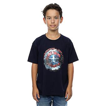 Marvel Boys Captain America Civil War Hex Shield T-Shirt