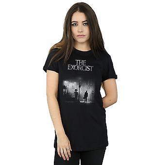 The Exorcist Women's Mono Distressed Poster Boyfriend Fit T-Shirt