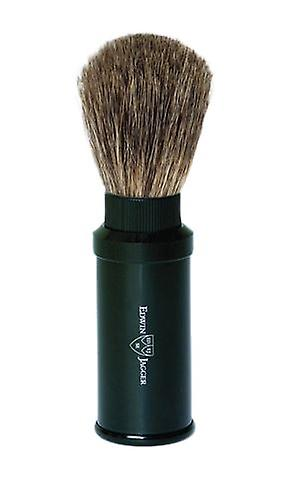 Edwin Jagger Pure Badger Travel Shaving Brush Black 81M536