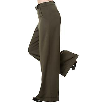 Dancing Days Olive Hidden Away Trousers XS