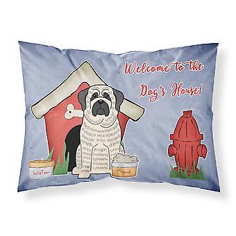 Hund Haus Sammlung Dogge gestromt weiße Stoff Standard Kissenbezug