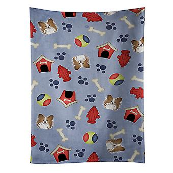Carolines Treasures  BB4027KTWL Dog House Collection Papillon Kitchen Towel