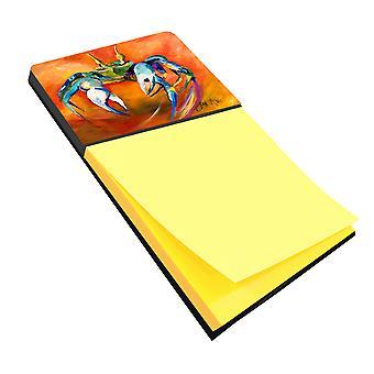 Carolines Treasures  JMK1110SN Blue Crab Sticky Note Holder