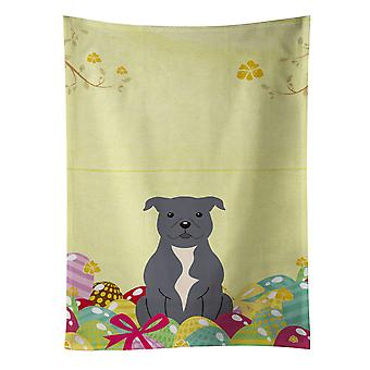 Easter Eggs Staffordshire Bull Terrier Blue Kitchen Towel