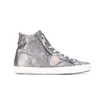Philippe model women's CLHDYS01 silver leather Hi Top sneakers