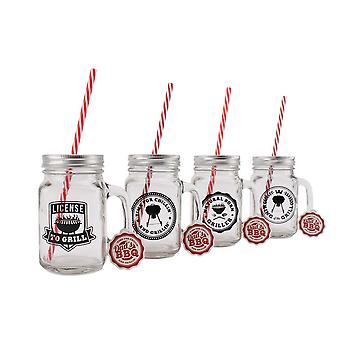 CGB Giftware Dads BBQ Drinking Jars