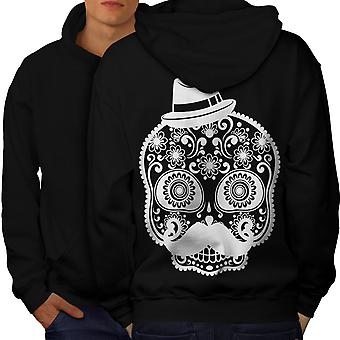 Skeleton Cool Men BlackHoodie Back | Wellcoda