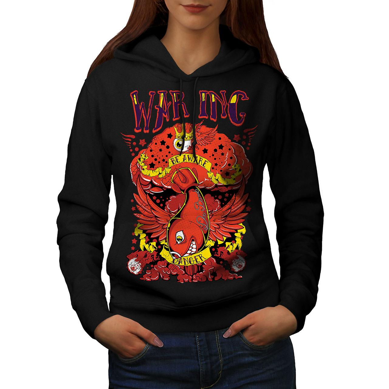 War Inc Nuke Bomb Fashion Women Black Hoodie | Wellcoda