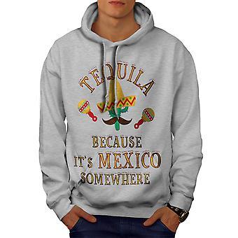 Tequila Mexiko Kaktus Männer GreyHoodie | Wellcoda