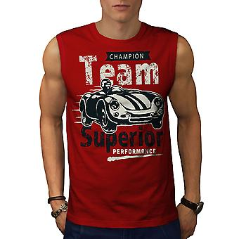 Supercar Men RedSleeveless T-shirt | Wellcoda