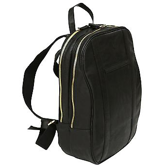 Echtes Leder Laptop Business Rucksack Tasche Case Rucksack Schulranzen