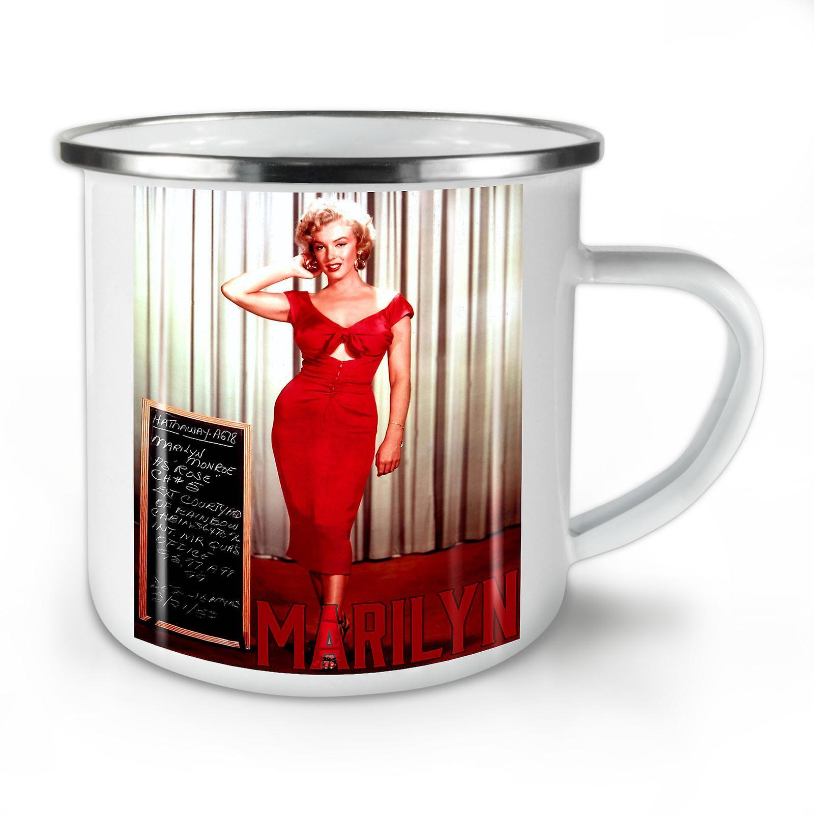 Dress Café OzWellcoda Marilyn Whitetea Mug10 Nouvelle Émail H9I2EDW