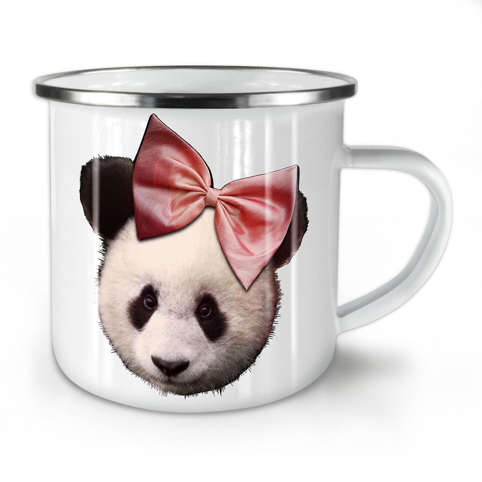 Mignon Panda OzWellcoda Ruban Nouveau Mug10 Café Whitetea Émail Lq4R3A5j