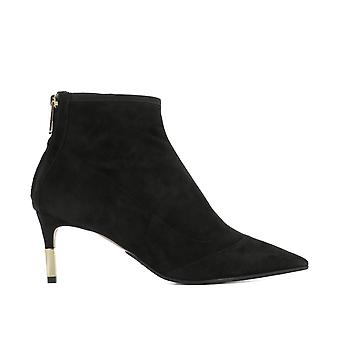 Balmain women's S8FC159PMMS176 Black Suede Ankle Boots