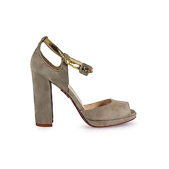FRANCO COLLI BEIGE HIGH-HEELED SANDAL