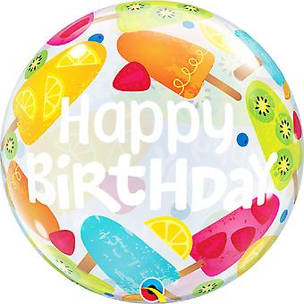 Qualatex 22 Inch Birthday Frozen Treats Bubble Balloon