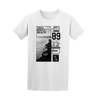 Santa Monica Beach 89 Ozean T-Shirt Herren-Bild von Shutterstock