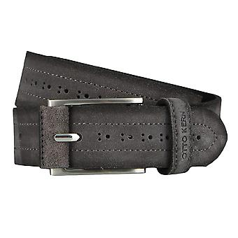OTTO KERN belts men's belts leather belt suede slate/grey 4520
