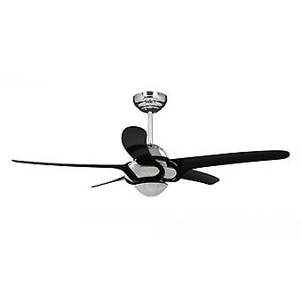 Ceiling Fan Hurricane chrome / black with remote control