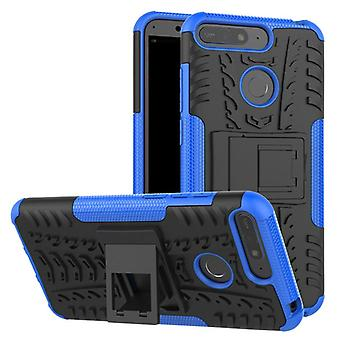 For Huawei Y6 2018 hybrid case 2 piece SWL outdoor Blau Pouch Pocket sleeve cover protection