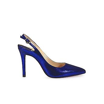 FRANCO COLLI BLUE SLING BACK PUMPS