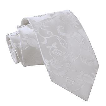 Kości słoniowej kwiatowy klasyczny krawat