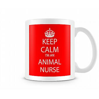 Keep Calm Im An Animal Nurse Printed Mug Printed Mug