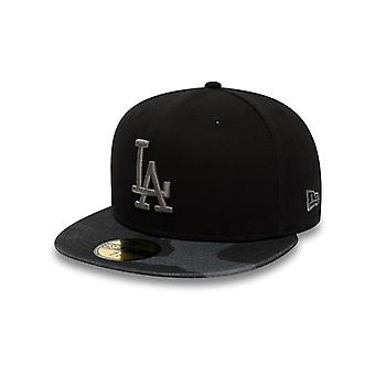 New Era Black-Midnight Camo-White Washed Camo 59Fifty Los Angeles Dodgers Fitted
