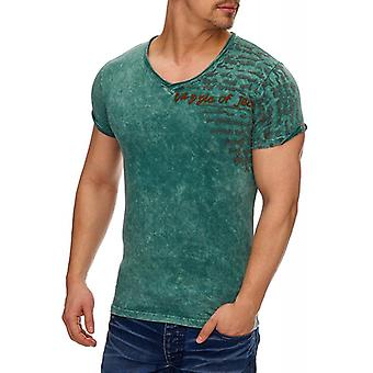 Tazzio fashion men's T-Shirt in the Vintagelook petrol