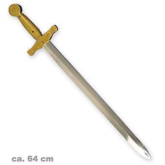 arma de espada 64cm rei cavaleiros medievais acessório cromado