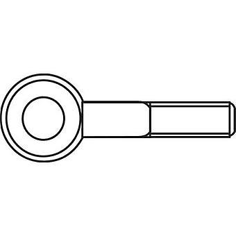 M5 x 30 mm Galvanised Steel Lifting Eye Bolts (50 pc(s))