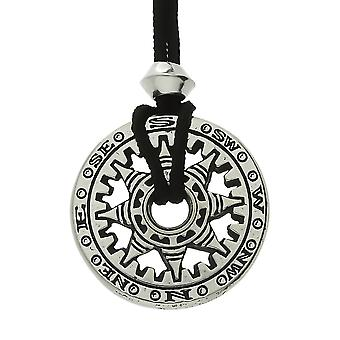 Handmade Compass of Fortunes Pewter Pendant