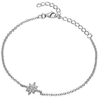 Cavendish French Brilliant Star Cubic Zirconia Bracelet - Silver