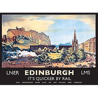 Edynburg szybciej przez Rail krajobraz Metal mały znak 200 X 150 Mm