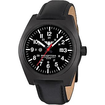 KHS acero interceptor negro reloj de KHS. INCBS. L