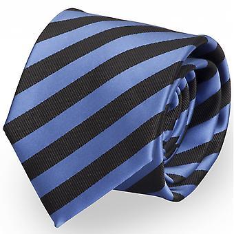 Striped tie cravate cravate cravate bleu 8cm noir - Fabio Farini