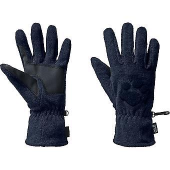 Jack Wolfskin Mens Paw Embroidered Fleece Winter Gloves