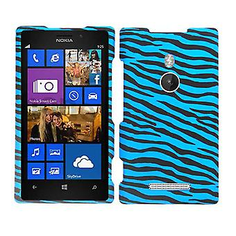 Unlimited Cellular Snap-On Case for Nokia Lumia 925 - Blue Zebra on Black