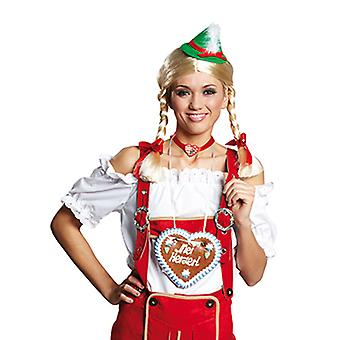 Camicetta costume costume di Oktoberfest volant camicetta per le donne