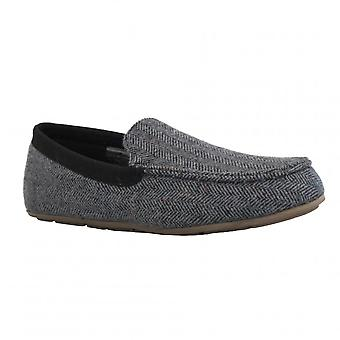 Clarks Mens Slipper Interior Cheer Grey