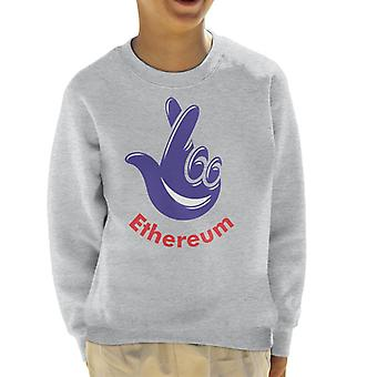 Ethereum National Lottery Lotto Logo Kid's Sweatshirt