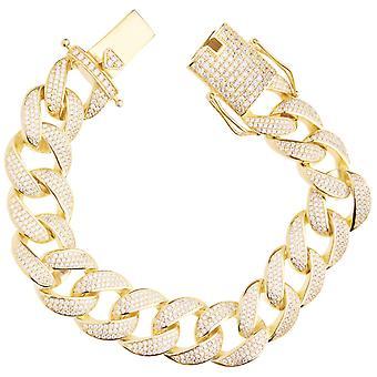 Premium Bling 925 sterling silver bracelet - MIAMI CURB 18mm