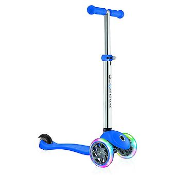 Globber Primo Lights 3 Wheel Scooter With Light Up Wheels Navy Blue