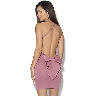 Cut Out Bow Back Bodycon Dress