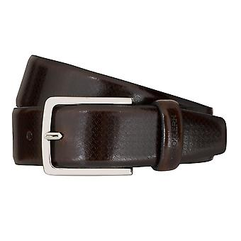 OTTO KERN belts men's belts leather belt Brown 7487