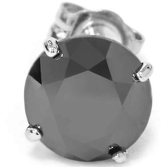 2ct Black Diamond Single Stud 14K White Gold