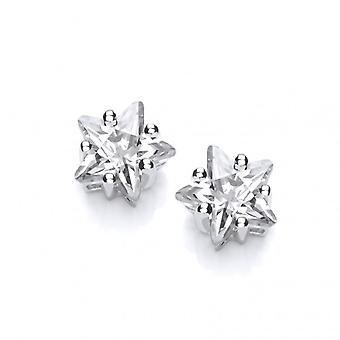 Cavendish Franse Sterling zilver en CZ Star oorbellen