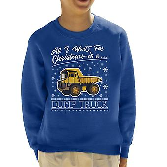 Todo lo que quiero para Navidad es sudadera un camión niño