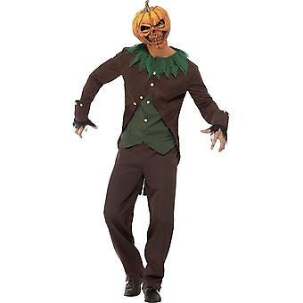 Hombres trajes traje espeluznante de Jack o lantern
