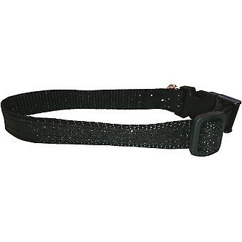 Dogcrafts lato Clip cane collare nero scintillante